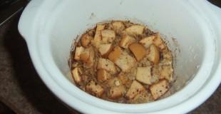 Overnight Crock Pot Apple Oatmeal