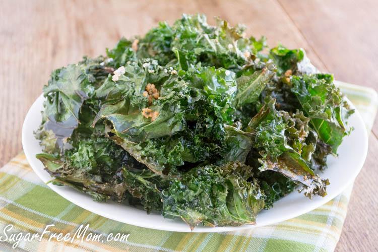 Baked Parmesan Kale Chips