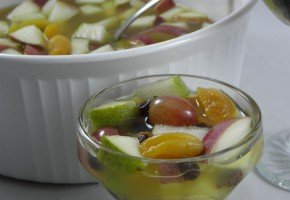 winter fruit gazpacho