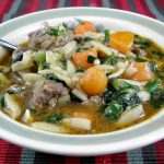 Beef Spinach Whole Wheat Orzo Soup Recipe
