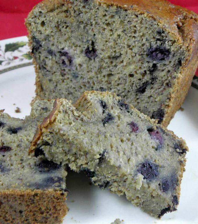 Sugar-Free Blueberry Banana Bread