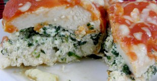 Baked Stuffed Chicken &Spinach Recipe