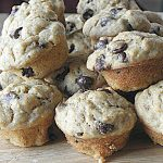Whole Wheat Banana Chocolate Chip Mini Muffins