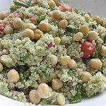 Quinoa Chickpea Salad with Avocado Dressing