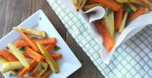 """Roasted Carrots & Parsnip """"Fries"""""""