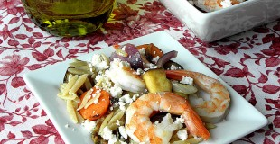 Greek Style Shrimp Whole Wheat Orzo Salad