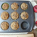 Stevia Sweetened Apple Oatmeal Muffins