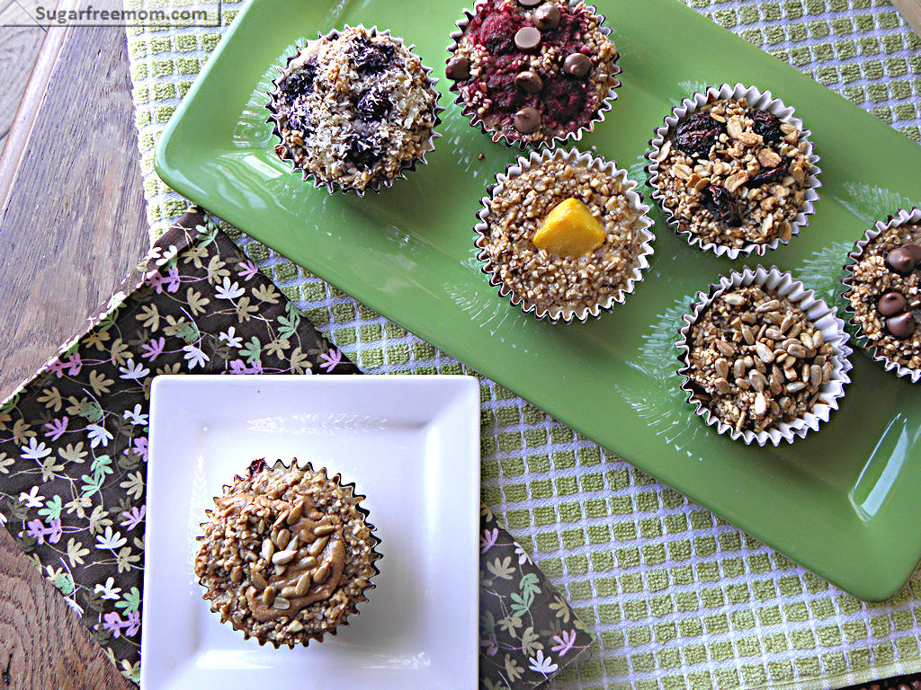 Personalized Baked Steel Cut Oat Cups No Added Sugar