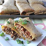Healthy Oven Fried Chimichangas