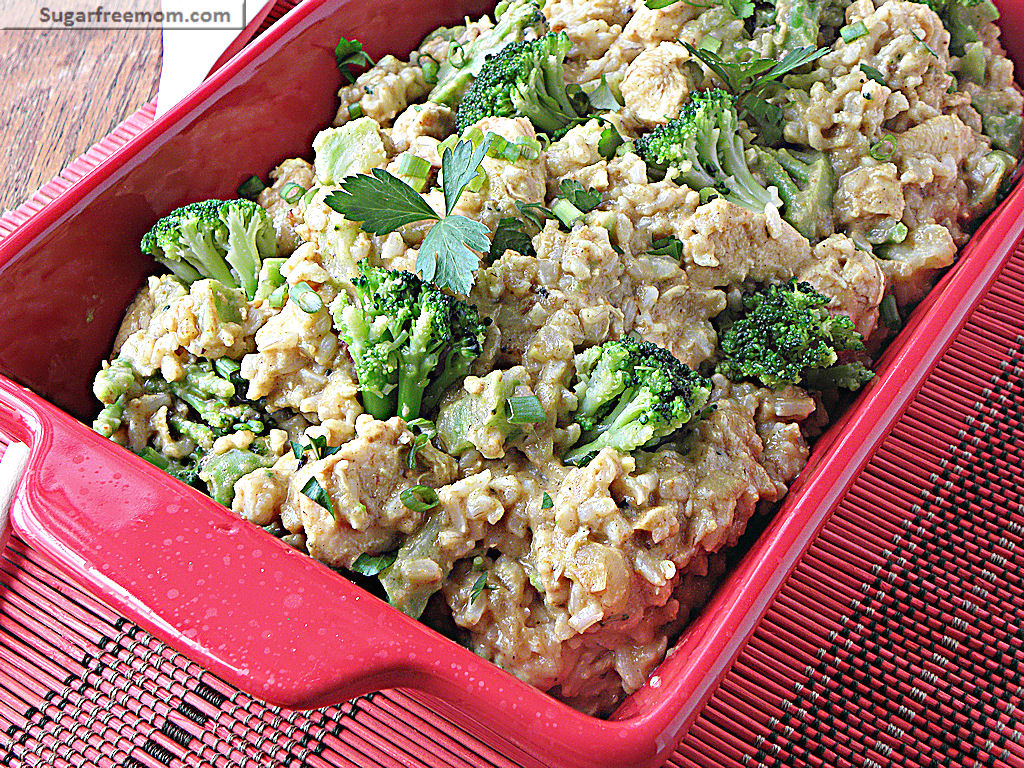 Coconut Curry Chicken with Broccoli and Brown Rice