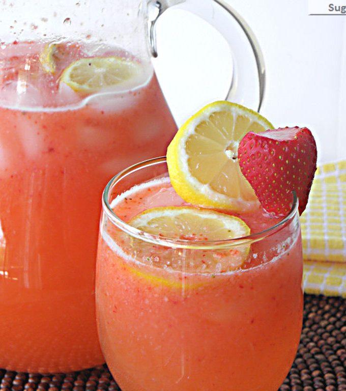 Naturally Sweetened Strawberry Lemonade