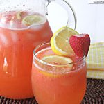Naturally Sweetened Strawberry Lemonade