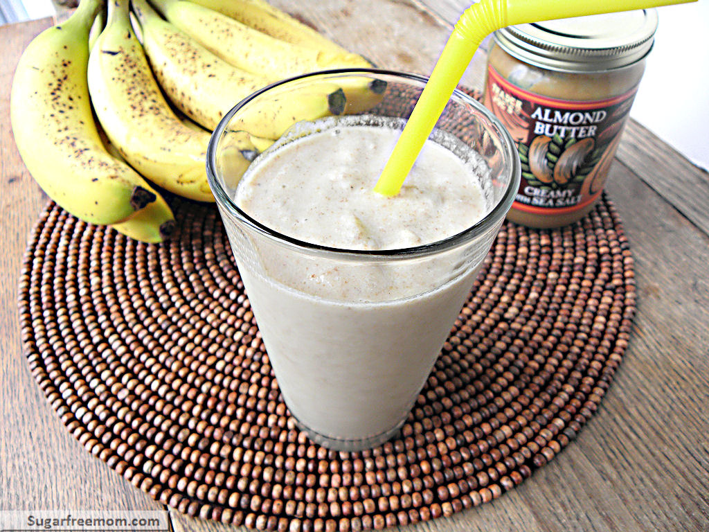 Banana Almond Chia Dairy Free Smoothie