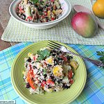 Mango Quinoa Black Bean Salad with  Zesty Orange Low Fat Dressing