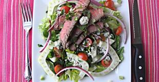 Blue Cheese Fennel Steak Salad