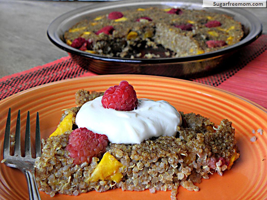 Fruity Baked Quinoa: Gluten, Sugar & Dairy Free