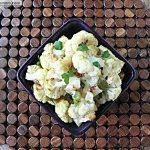 Roasted Garlic Cauliflower with Lemon Tahini Dip