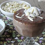 Chocolate Chia Almond Pudding {Dairy Free & Sugar Free}