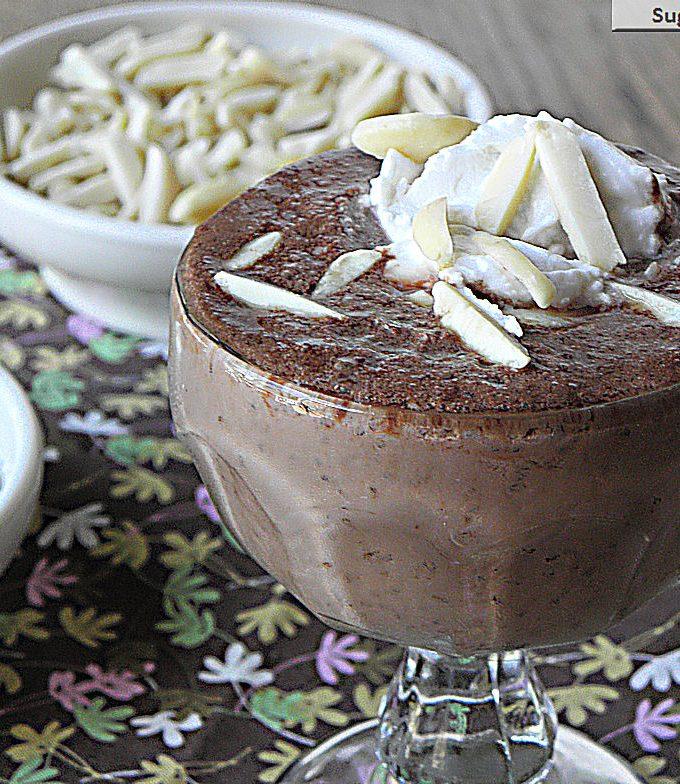 Chocolate Chia Almond Pudding {Dairy Free & Sugar Free}