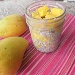 No Bake Overnight Chia Mango Oats {Naturally Sweetened}