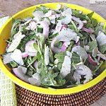 Fresh Arugula Romano Salad