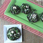 Kale Feta Stuffed Portobello Mushroom Caps