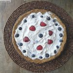 Red White & Blue Frozen Lemonade Pie: { No Sugar Added, Gluten & Nut Free}