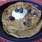 Blueberry Oat Protein Pancakes: No Sugar Added [Family Style]