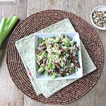 Toasted Walnut Apricot Brown Rice Salad