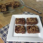 Cocoa Baked Quinoa Bars: No Sugar Added, Gluten Free, Dairy Free