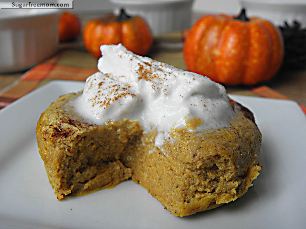 Low Fat Gluten Free Cake Recipes: Healthy Pumpkin Pie Custard: Gluten Free & Low Carb