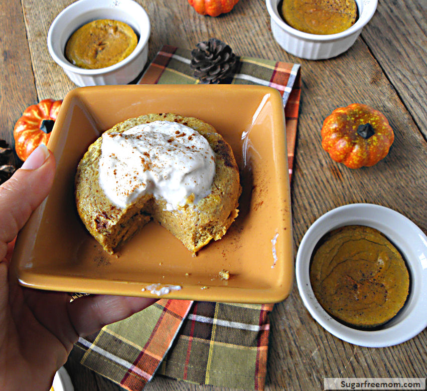 Healthy Pumpkin Pie Custard: Gluten Free & Low Carb