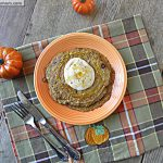 Healthy Pumpkin Protein Pancakes with Pumpkin Yogurt Topping