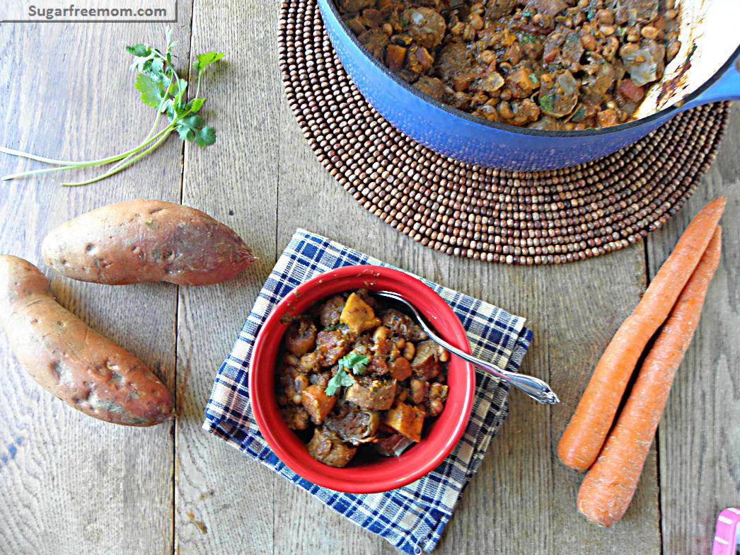 Sweet Potato Turkey Sausage Chili