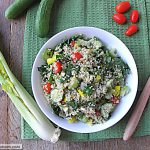 Vegetable Quinoa Salad with Balsamic Dressing: [Gluten Free]