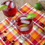 Cranberry Lime Spritzer: Non-Alcoholic, No Sugar Added