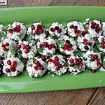 Pomegranate Cheese Cucumber Bites