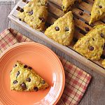 Pumpkin Chocolate Chip Whole Wheat Scones: No Sugar Added