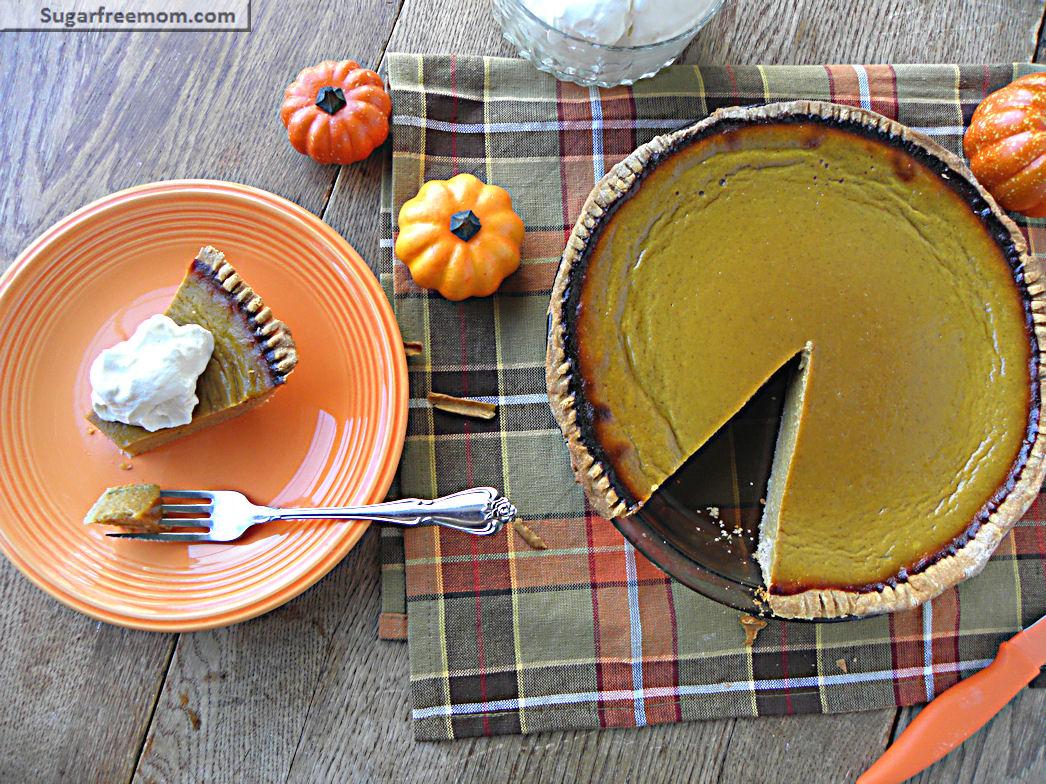 Healthier Pumpkin Pie: Low Calorie & Low Sugar