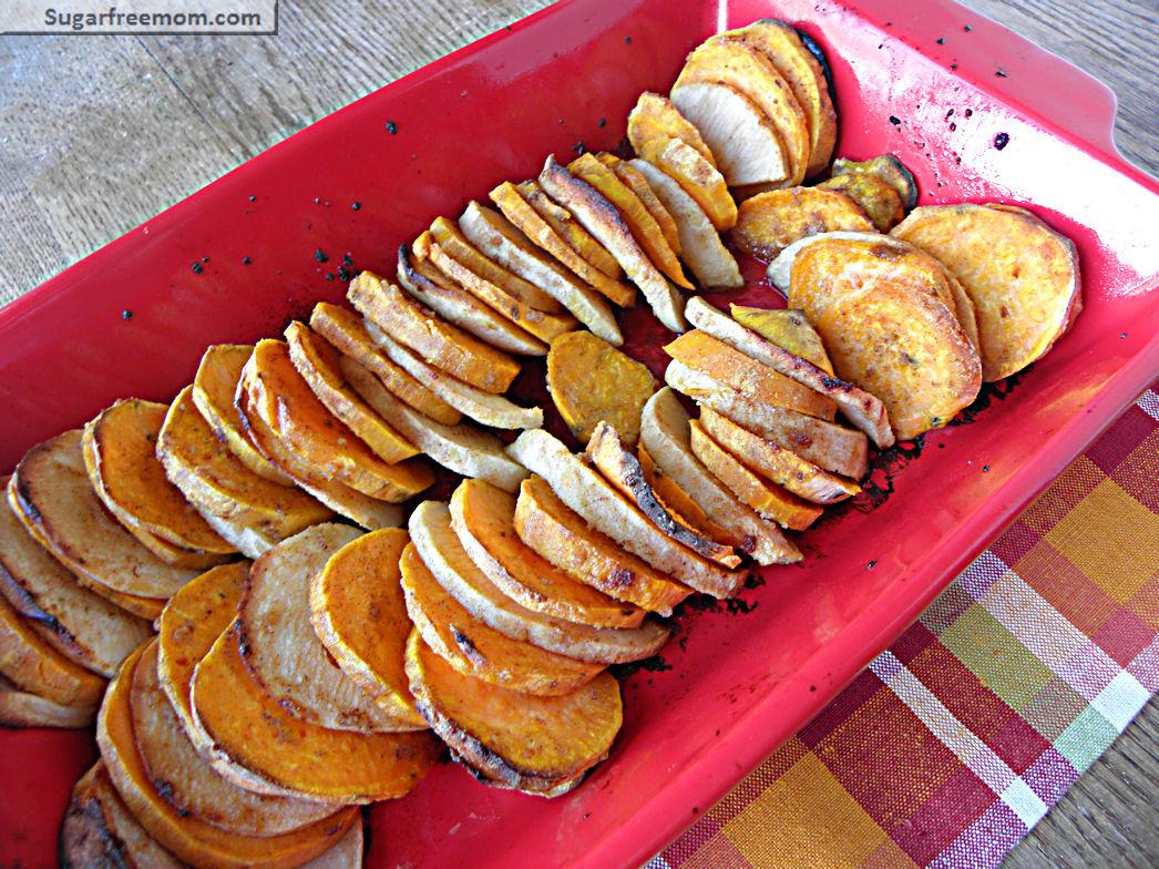 Sweet Potato & Apple Bake with Honey Glaze Option