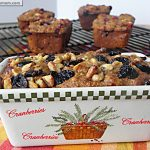 Petite Cranberry Apple Breads: [Low Sugar & Diabetic Friendly]