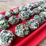 Healthy Kale Spinach Bacon Cheese Stuffed Mushrooms