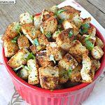 Gluten Free Garlic Parmesan Croutons