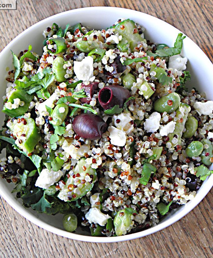Meatless Monday: Greek Style Tri-Color Quinoa Salad