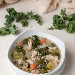 Slow Cooker Keto Turkey Kale Rice Soup