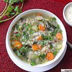 Crock Pot Turkey Kale Rice Soup