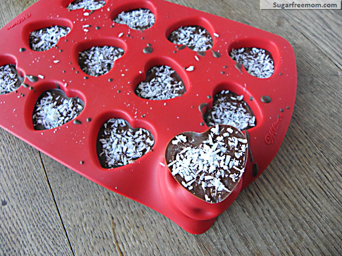 Homemade Valentine Coconut Filled Candy Dairy Nut Sugar Gluten