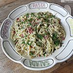 Lightened Up Spaghetti alla Carbonara with Chicken
