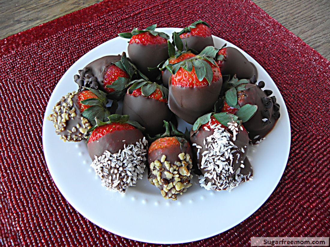 Unsweetened Chocolate Covered Strawberries