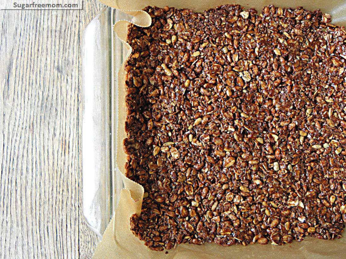 No bake chewy cocoa granola bars refined sugar gluten nut free super easy to make too all you need is a few ingredients and about 10 minutes of your time to prepare after ingredients are melted and stirred together ccuart Choice Image